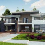 проект каркасно-монолитного дома SDn-444 4