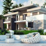 проект каркасно-монолитного дома SDn-444 5