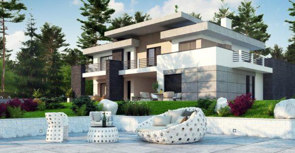 проект каркасно монолитного дома SDn 444 5