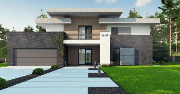 проект каркасно монолитного дома SDn 444 8