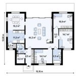 проект каркасно-монолитного дома SDn-447 9