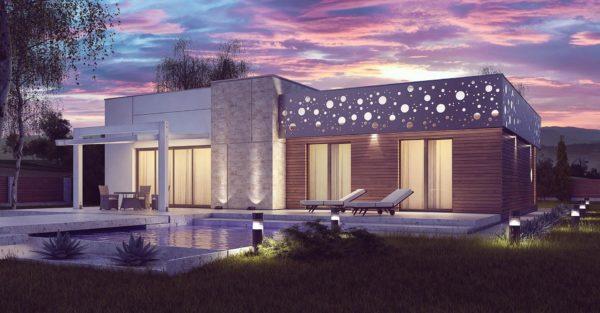 проект каркасно монолитного дома SDn 451 2