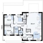 проект каркасно-монолитного дома SDn-451 9