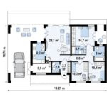 проект каркасно-монолитного дома SDn-453 9