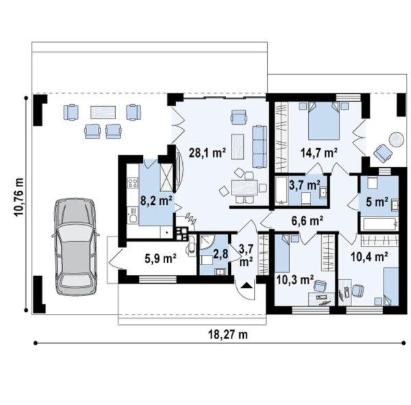 проект каркасно монолитного дома SDn 453 9
