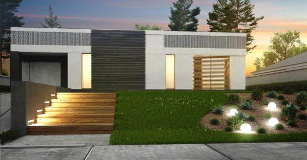 проект каркасно монолитного дома SDn 454 2