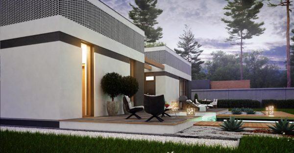 проект каркасно монолитного дома SDn 454 3