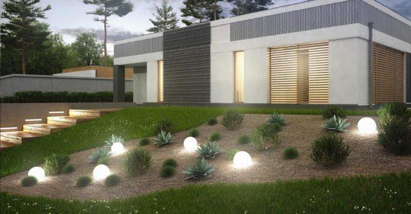 проект каркасно монолитного дома SDn 454 4