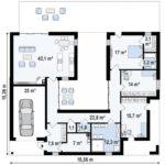 проект каркасно-монолитного дома SDn-454 9