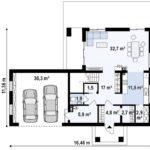 проект каркасно-монолитного дома SDn-466 1