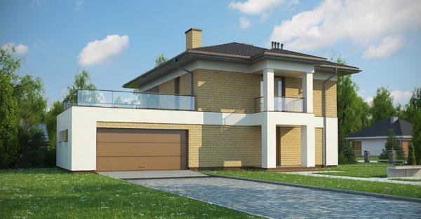проект каркасно монолитного дома SDn 466 3