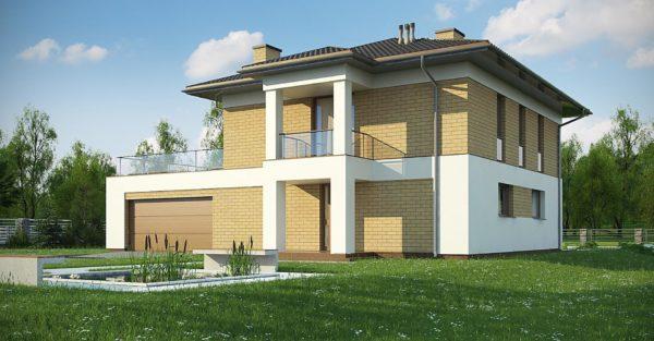 проект каркасно монолитного дома SDn 466 5