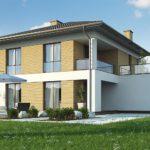 проект каркасно-монолитного дома SDn-466 6