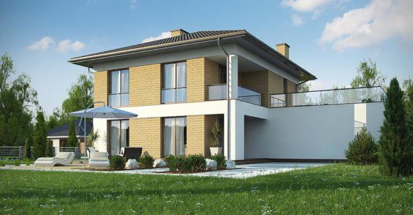 проект каркасно монолитного дома SDn 466 6
