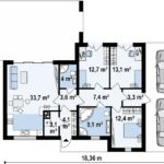 проект каркасно-монолитного дома SDn-470 5