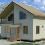 проект каркасного дома SDn-110 1