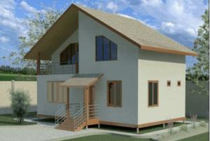 проект каркасного дома SDn 110 1