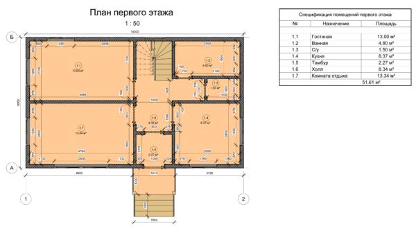 проект каркасного дома SDn 110 2