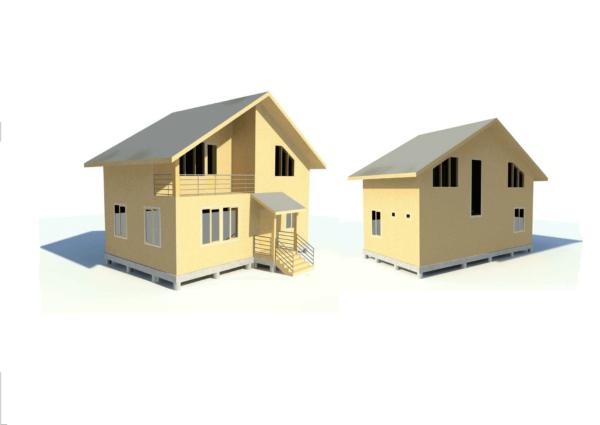 проект каркасного дома SDn 110 3