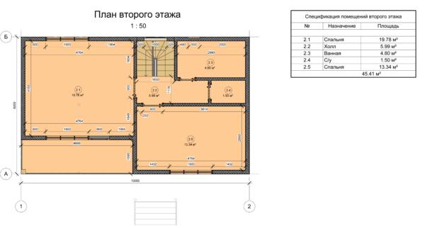 проект каркасного дома SDn 110 4