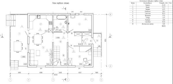 проект каркасного дома SDn 134 1