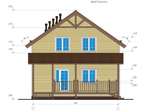 проект каркасного дома SDn 134 2