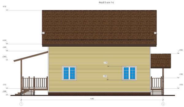 проект каркасного дома SDn 134 4