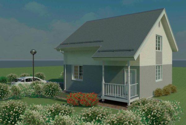 проект каркасного дома SDn 140 1