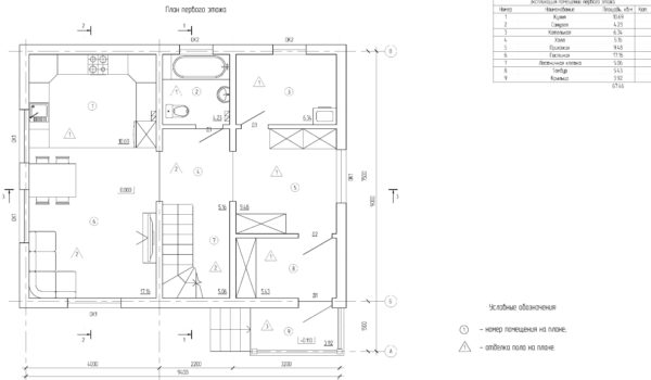 проект каркасного дома SDn 140 2