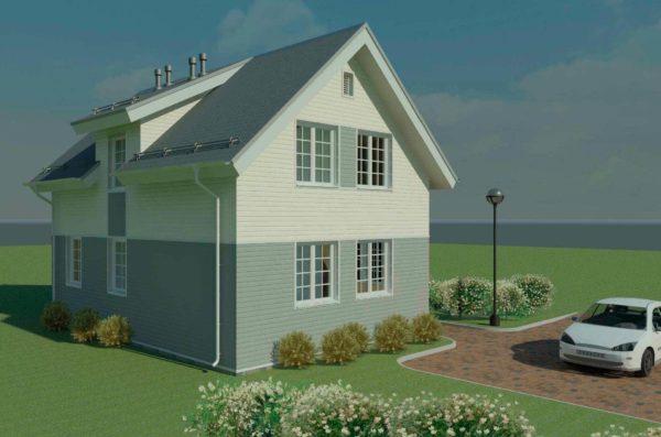 проект каркасного дома SDn 140 3