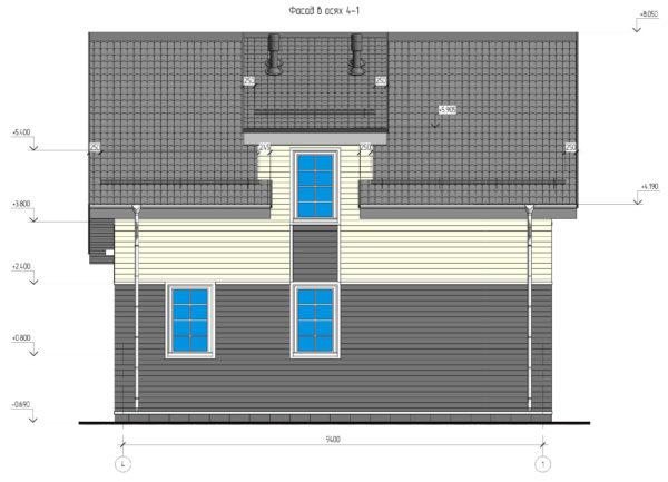 проект каркасного дома SDn 140 5