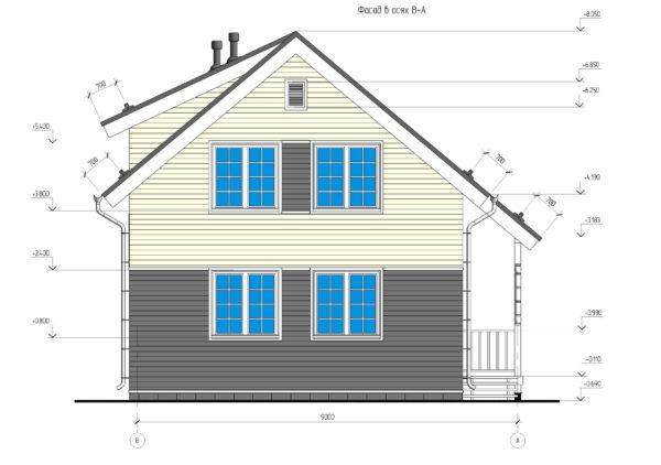 проект каркасного дома SDn 140 6