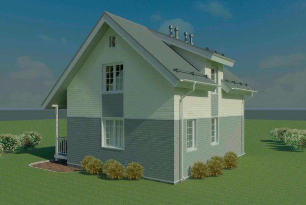 проект каркасного дома SDn 140 7