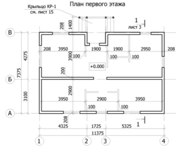 проект каркасного дома SDn 159 3