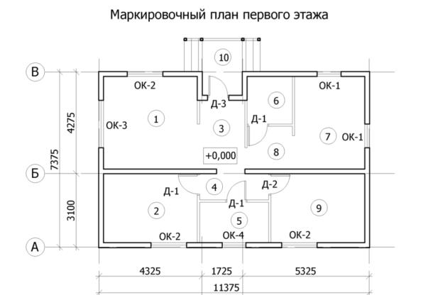 проект каркасного дома SDn 159 4