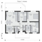 проект каркасного дома SDn-334 1