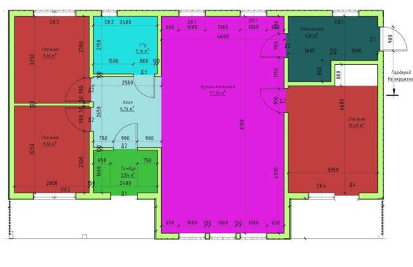проект каркасного дома SDn 339 6