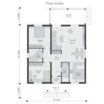 проект каркасного дома SDn-480 1