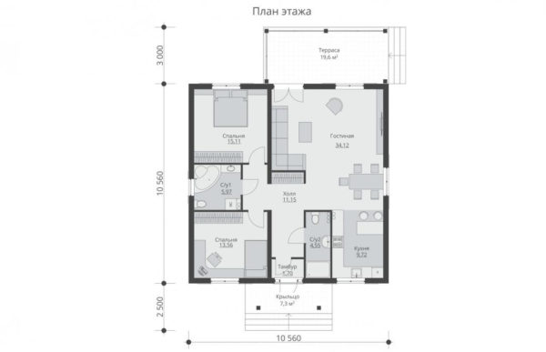 проект каркасного дома SDn 480 1
