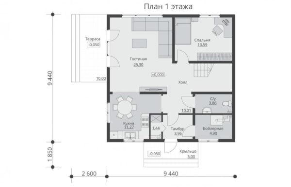 проект каркасного дома SDn 521 1