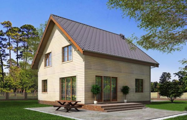проект каркасного дома SDn 521 10