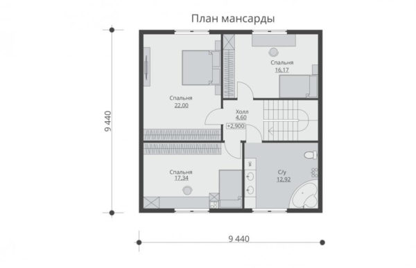проект каркасного дома SDn 521 6