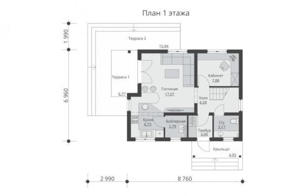 проект каркасного дома SDn 532 1