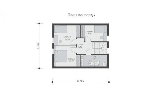 проект каркасного дома SDn 532 6